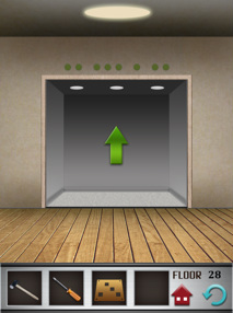 100 floors iphone game level 28 image 2
